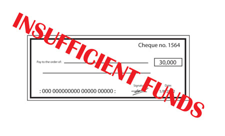 bounced cheques
