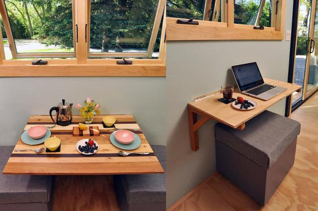 Folding Kitchen Table Doubles as Counter Space