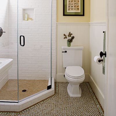 8 ways to prettify bathroom without repacking wma property for Unusual bathroom flooring
