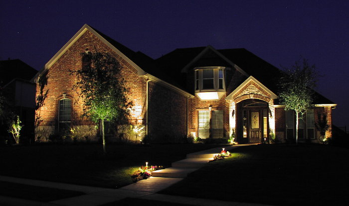 Landscaping and lighting